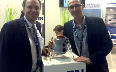 Presentation of the gyro-stabilized gimbal ASIO-155 at the Paris Air Show