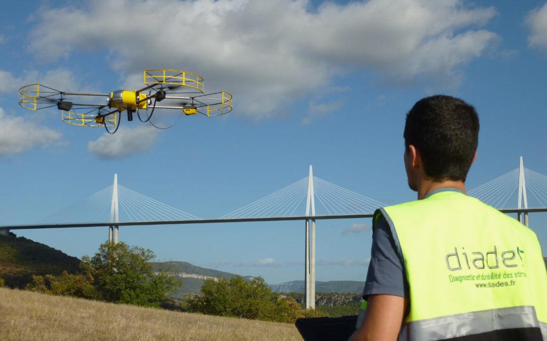 Inspection du viaduc de Millau grâce au drone U130