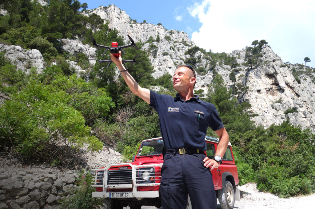 NX70 drone used by the BMPM in the calanques of Marseille