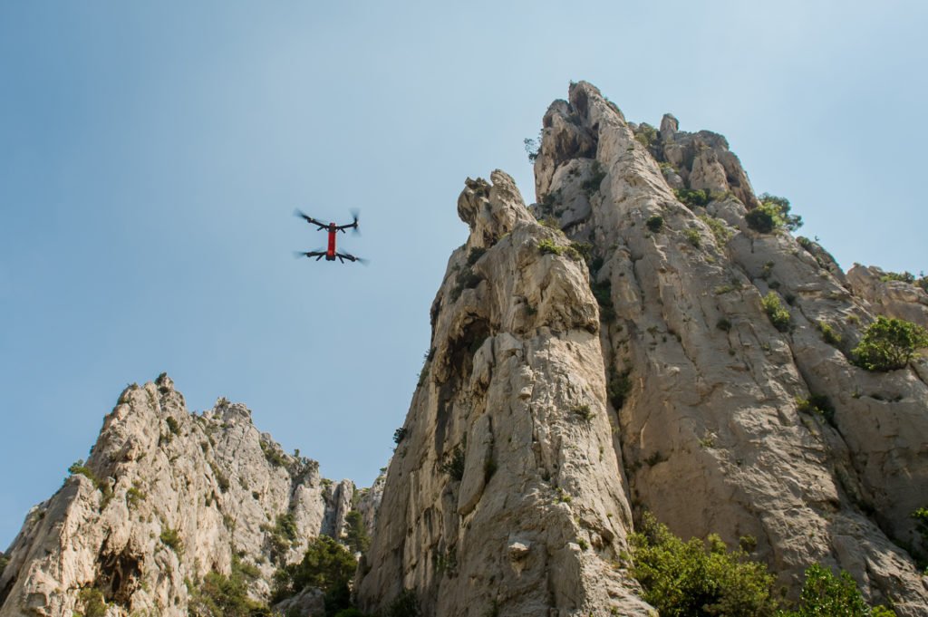 NX70 drone in the calanques of Marseille